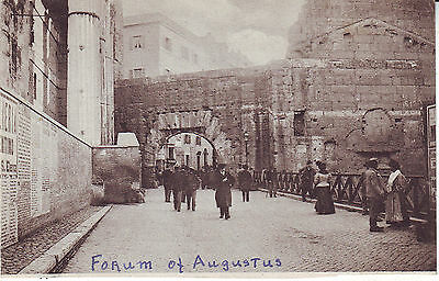 Italy Roma - Augustus Forum old unused postcard