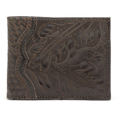 American West Western Mens Bi-fold Wallet Leather Brown 0529510