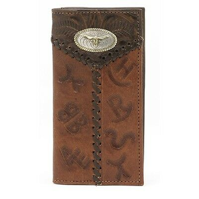 American West Western Mens Rodeo Wallet Leather Brown 0518595