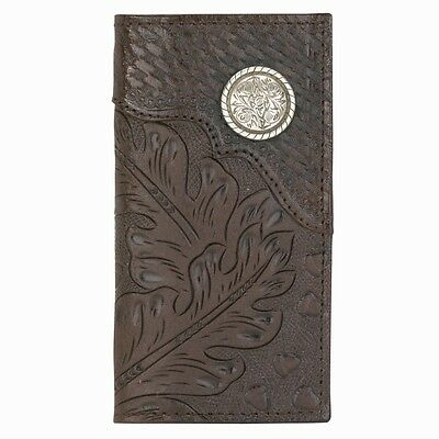 American West Western Mens Rodeo Wallet Leather Brown 0519510