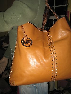 Michael Kors Astor Collection Luggage Leather Shoulder Tote   Nice  $368.00