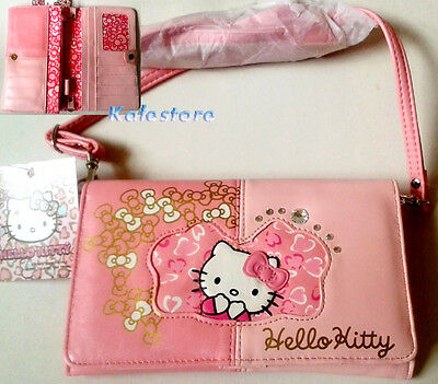 New Japan Original Sanrio Hello Kitty Clutch Wallet Hand & Shoulder Bag