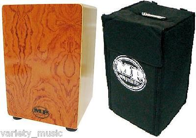 Large ROSEWOOD MANO PERCUSSION CAJON DRUM, WOODEN RHYTHM BOX, PADDED GIG BAG