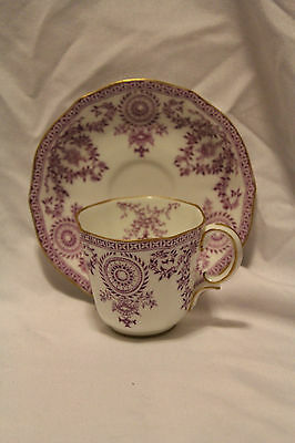 ROYAL CROWN DERBY ENGLAND 204893 / 3720D-L DEMITASSE/TEA CUP & SAUCER