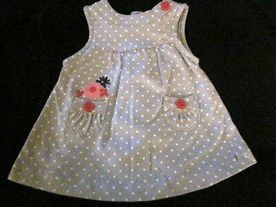 Lot of 3 Baby Girls Outfits Dress-Onesie & Gown NB & 0-3 Adorable!