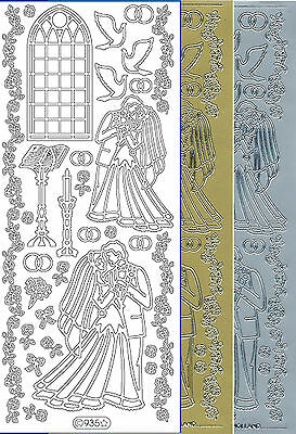 Starform Outline Stickers N° 821 Naissance Cigogne Baby Stork Auto-collants