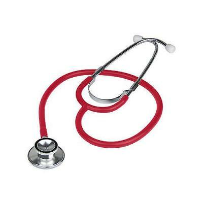 Brand New Double Dual Head RED Stethoscope In Box