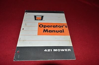 Oliver White Tractor 421 Mower Operator's Manual BVPA