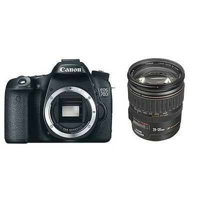 Brand New Canon EOS 70D DSLR Camera Body Canon 28-135mm f/3.5-5.6 EF IS USM Lens