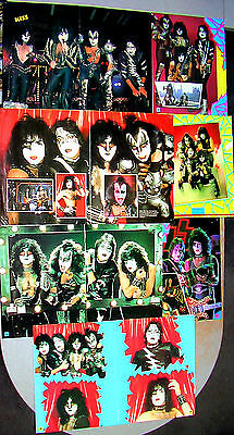 KISS-Lot of 40 Posters 1981-'83 MUST SEE!!! AMAZING Collection!! Aucoin/VVI-Carr