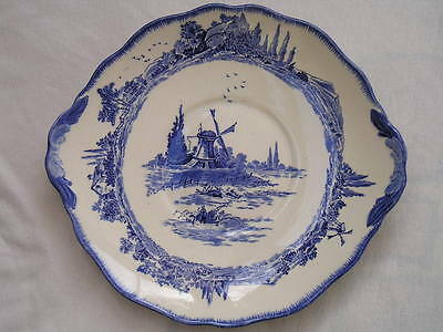 Royal Doulton blue and white bread plate. Norfolk pattern D6294