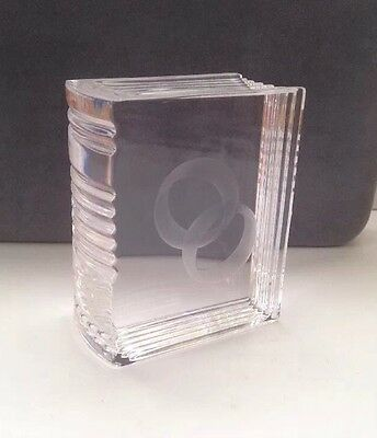 Stuart Memento Collection BOOKS of LOVE Crystal Art Glass Paperweight