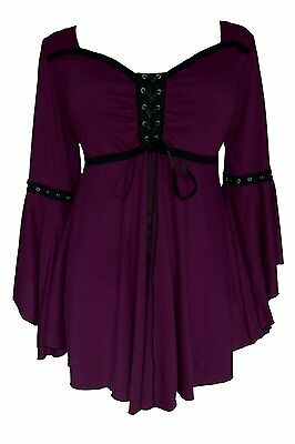 Gothic Victorian SEXY OPHELIA Corset Top Plum PURPLE Jr Plus 5X -Size 28