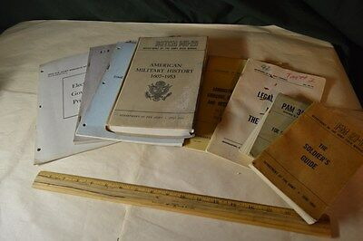 LOT OF 8 Dept. of the Army Old Field Manuals Pamphlet Book Air Guard 1949-1973