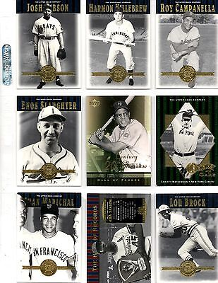 2001 Upperdeck Century 20th Showcase WILLIE MAYS S11 & 8 card Lot Hall of Famers