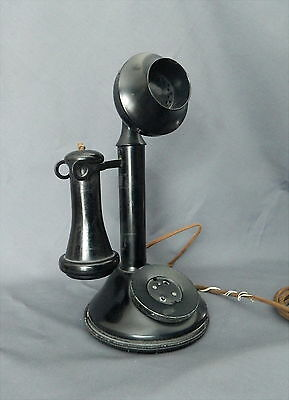 Antique 1920's BAKELITE STICK TELEPHONE Automatic Electric Transmitter No. 42