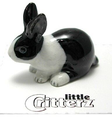 """LC712 Little  Critterz  - Black & White Bunny  """"Panda"""" (Buy any 5 get 6th free!)"""