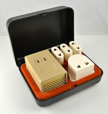 Vintage Franzus Foreign Electricity Converter Kit Model CA-1600 Gold Anodized