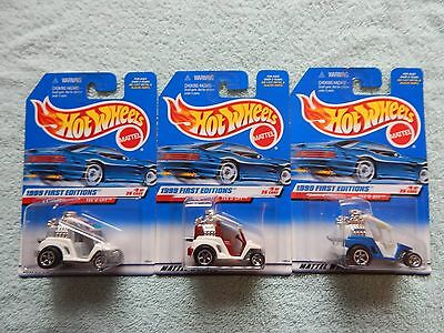 HOT WHEELS 1/64 LOT OF 3 TEE'D OFF 1999 FIRST EDITION COLOR VARI - SHIPS FAST
