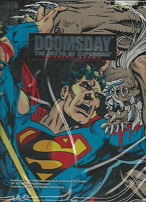2 Sided 1993 Death of Superman/Return of Superman Trading Cards 3 Ring Collector