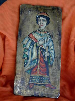 vintage RELIGIOUS ICON Painting on Board