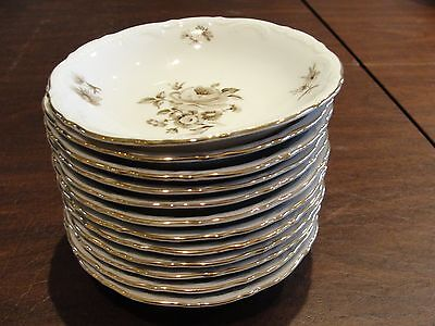 MITTERTEICH CHARMING BARBARA 12 FRUIT BOWLS 5 1/4""