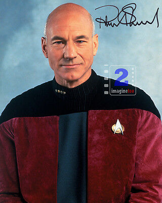 """Patrick Stewart 8""""x 10"""" Great Signed Color PHOTO REPRINT"""