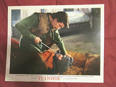 Ivanhoe (1952) Title Card &  Robert Taylor With Sword/2 Deluxe Rare  Lobby Cards