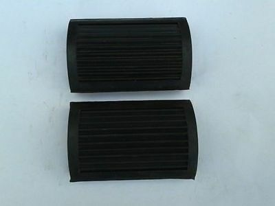 PAIR OF NORTON EARLY VINTAGE BICYCLE PEDAL 'D' TYPE FOOTREST RUBBER NO LOGO