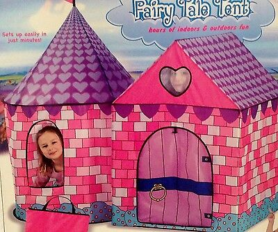 Fairy Tale Tent Pink Princess Play Indoor Outdoor Girls Playhouse Camp Castle NE