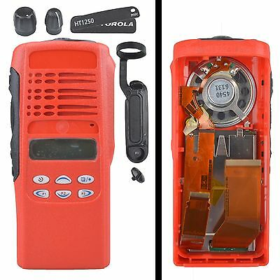Red Replacement Housing Case Display For Motorola HT1250 Limited-keypad Radio