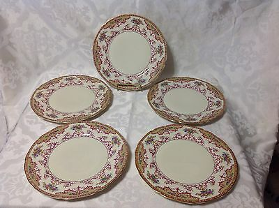 5ct H&C Heinrich & Co Selb Bavaria Beautiful Dinner Plates Pattern12957;  C.1930