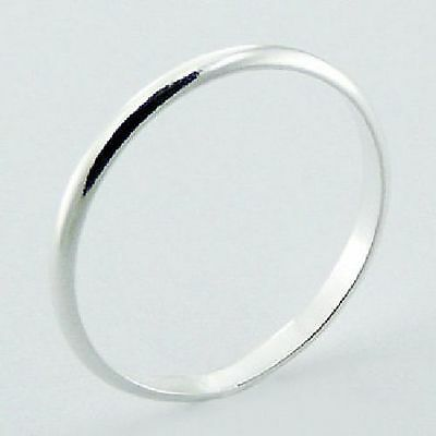 Sterling Silver Plain Narrow Wedding Band Ring Genuine 925 NEW 2mm Sizes 3 to 13