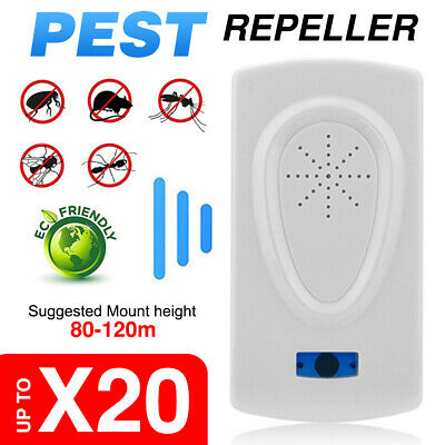 Pest Repeller Ultrasonic Electronic Mouse Rat Mosquito Insect Rodent Control New