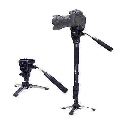 YUNTENG 288 three Feet Support Monopod with Fluid Pan Head for DSLR Camera DV