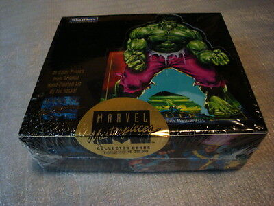 1992 Marvel Masterpieces Factory Sealed Unopened Box Vintage #165,278 Rare