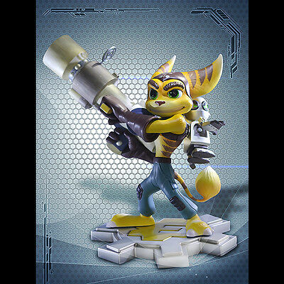GAMING HEADS Ratchet And Clank Statue Figure Playstation All Stars SEALED NEW