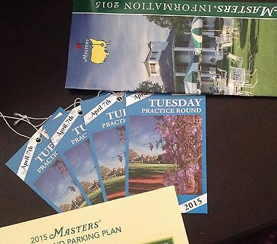 2015 Masters Tickets Tuesday Practice Round (4 tickets)