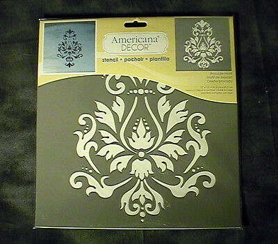 12 x 12 BROCADE MOTIF STENCIL AMERICANA DECOR LASER CUT DECO ART