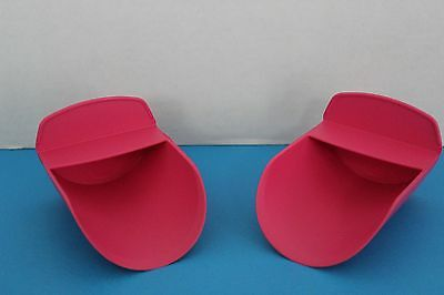 NEW Tupperware ROCKER SCOOPS~PINK~for Canisters~Pet Food~Dry Goods~Sugar~Flour