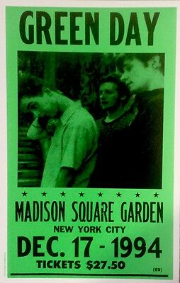 Green Day playing at Madison Square Garden in New York City Poster