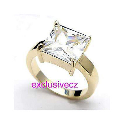 WEDDING PARTY SPECIAL~~~4 Carats Yellow Gold Plated 18K GP Wedding Ring Size 5