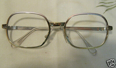 VINTAGE Damen Brille Metall Brillenfassung 50M Optiker Ladenneu