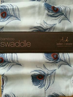 NEW Aden Anais Mela Feathers Bamboo Muslin Swaddle boutique Blanket