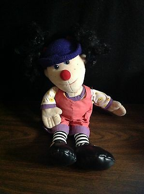 """Comfy Couch Loonette The Clown 20"""" Vintage Doll Plush 1995 HTF"""