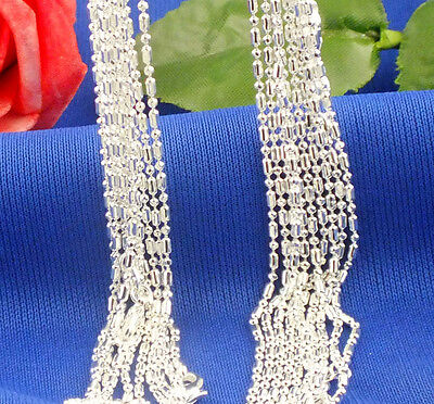 Fashion 925 Sterling Silver Hot Nice Delicate Pentagon Chain Necklaces 26inch