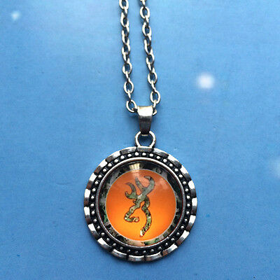 2015 HOT Browning Deer Necklace Photo Alloy Necklaces & Pendants #07,