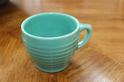 Bauer Pottery RARE Vintage Ring Jumbo Coffee Cup Jade Green