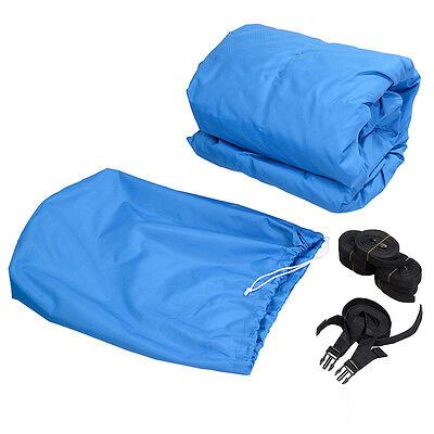 Blue 17-20 Ft Waterproof Heavy Duty Fabric Trailerable Pontoon Boat Cover New
