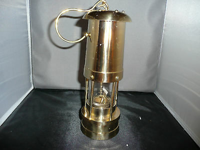 "MINER""S  LAMP   Brass     reproduction"